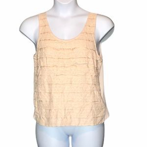 J Crew XL ruffle light creamy pink waterfall tank